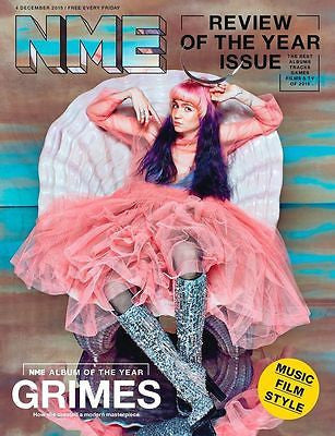 Visions GRIMES Photo Cover interview UK NME MAGAZINE DECEMBER 2015