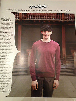 COLIN MORGAN Merlin PHOTO INTERVIEW MAGAZINE JANUARY 2015