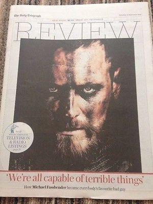 Macbeth MICHAEL FASSBENDER PHOTO INTERVIEW TELEGRAPH REVIEW SEPT 2015 PRINCE