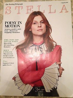 CLEMENCE POESY PHOTO INTERVIEW STELLA MAGAZINE APRIL 2016 NEW CRYSTAL RENN