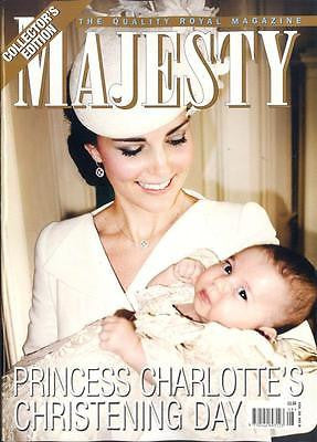 (UK) MAJESTY Magazine ROYAL BABY PRINCESS CHARLOTTE CHRISTENING KATE MIDDLETON