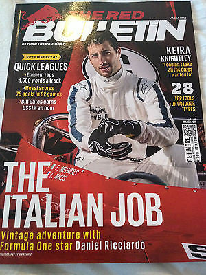 RED BULLETIN MAGAZINE MARCH 2015 DANIEL RICCIARDO MARK STRONG CHARLIE XCX