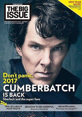 UK Big Issue Magazine New Year 2017 SHERLOCK Benedict Cumberbatch Adam Driver