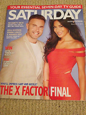 SATURDAY magazine Dec 2013 GARY BARLOW Roy Wood Matthew Rhys Jonas Armstrong
