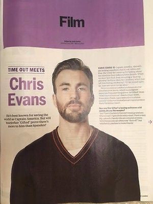 CHRIS EVANS - ELISABETH MOSS Time Out London UK magazine June 2017