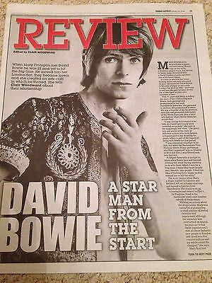 DAVID BOWIE PHOTO UK COVER EXPRESS REVIEW JANUARY 2016