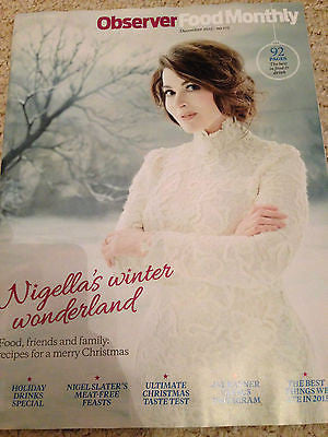 NIGELLA LAWSON PHOTO COVER CHRISTMAS RECIPES OBSERVER FOOD MAGAZINE DEC 2015