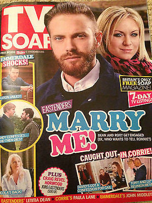 TV SOAP MAGAZINE Nov 2015 MATT DI ANGELO DANNY MILLER JOHN MIDDLETON RYAN HAWLEY