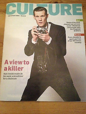 CULTURE magazine December 1, 2013,Matt Smith British Issue Doctor Who interview