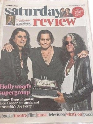 ALICE COOPER UK PHOTO COVER INTERVIEW SEPTEMBER 2015 JOHNNY DEPP JOE PERRY