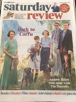 UK Times Review 04/2016 KEELEY HAWES Gerald Finley The Durrells BEN WHISHAW