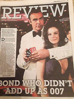 (UK) SUNDAY EXPRESS REVIEW OCT 2015 JAMES BOND DIAMONDS SEAN CONNERY LANA WOOD