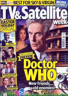 UK TV & Satellite Magazine April 2017 PETER CAPALDI Doctor Who Photo Cover