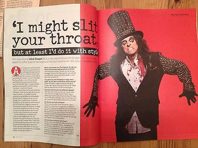 ALICE COOPER UK PHOTO COVER INTERVIEW OCTOBER 2014 SEAN PERTWEE