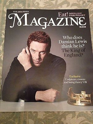 DAMIAN LEWIS Wolf Hall PHOTO INTERVIEW UK TIMES MAGAZINE JANUARY 2015 COVER