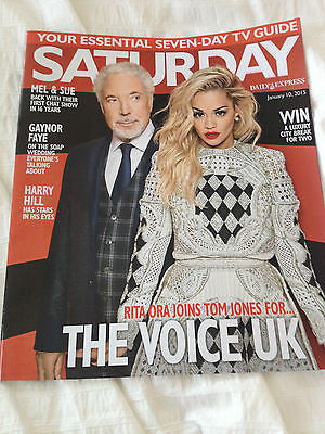 SATURDAY MAGAZINE 2015 TOM JONES RITA ORA CLAIRE GOOSE JANE ASHER SARAH PARISH