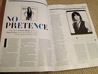 CHRISSIE HYNDE PHOTO INTERVIEW ABSOLUTELY LONDON PROPERTY MAGAZINE