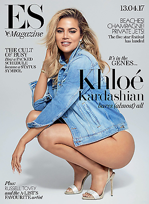 KHLOE KARDASHIAN bares all Photo Cover interview London ES MAGAZINE April 2017