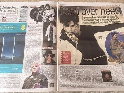 Purple Rain - Prince - One Year On UK Daily Mirror 21st April 2017