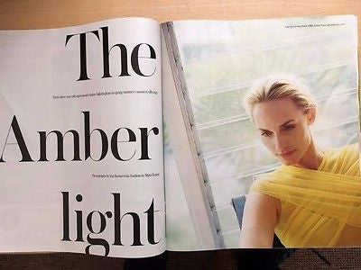 Telegraph Magazine March 2017 Amber Valletta Photo Cover & 8 Pages