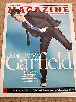 Spider-Man ANDREW GARFIELD Photo Cover interview OBSERVER MAGAZINE April 2014