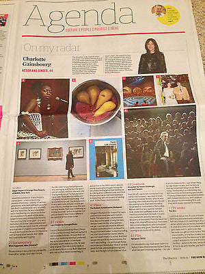 OBSERVER NEW REVIEW JUNE 2016 CHARLOTTE GAINSBOURG Ralph Fiennes KD Lang