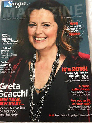 SAGA magazine January 2016 GRETA SCACCHI Neil Dudgeon Photo Interview