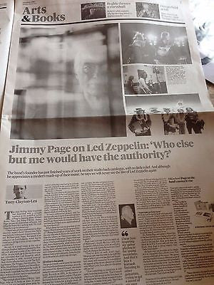 JIMMY PAGE interview LED ZEPPELIN UK 1 DAY ISSUE JULY 2015
