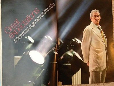 PETE PETER O'TOOLE PHOTO INTERVIEW UK SAGA MAGAZINE 2007 - RARE UK EDITION