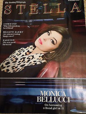 (UK) STELLA MAGAZINE OCTOBER 2015 MONICA BELLUCCI PHOTO INTERVIEW JAMES BOND