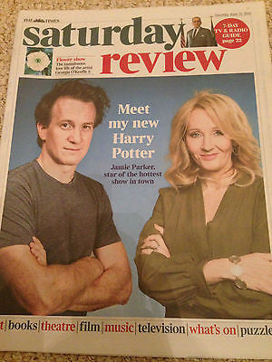 JK Rowling Harry Potter & The Cursed Child Jamie Parker UK Times June 2016