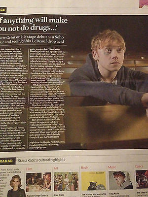 Observer New Review - January 5 2014 RUPERT GRINT Stana Katic Dimitri Leonidas