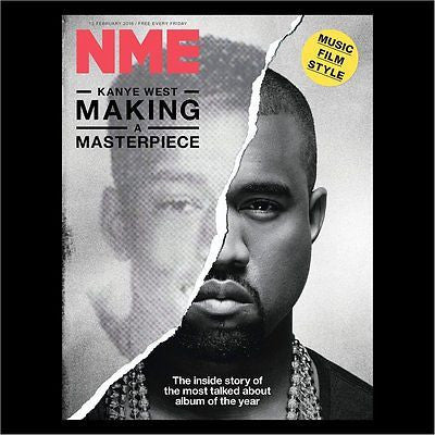 KANYE WEST PHOTO COVER NME MAGAZINE FEBRUARY 2016 NATHANIEL RATELIFF PORCHES