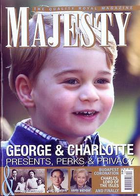 MAJESTY MAGAZINE NOVEMBER 2016 PRINCE GEORGE & PRINCESS CHARLOTTE PHOTO COVER