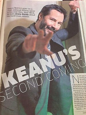 KEANU REEVES PHOTO INTERVIEW METRO APRIL 2015 BRAND NEW CLARE GROGAN