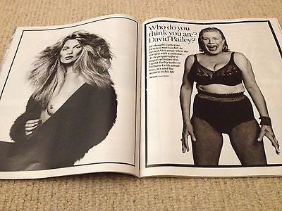 ** NEW UK !! DAVID BAILEY interview MARIANNE FAITHFULL KATE MOSS TIMES Magazine