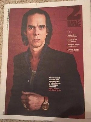 NICK CAVE UK PHOTO COVER INTERVIEW MAY 2017 Dennis Quaid Perfume Genius Mindhorn