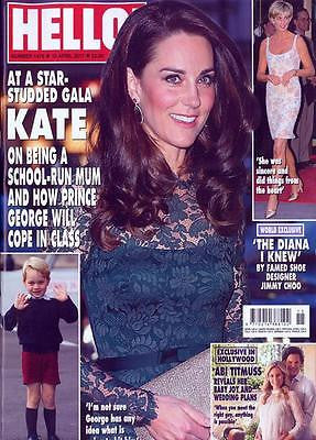 HELLO! magazine 10 April 2017 Kate Middleton Prince George Starts School