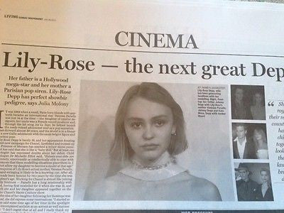 LILY-ROSE DEPP interview VANESSA PARADIS JOHNNY UK 1 DAY ISSUE 2015