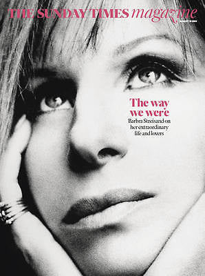 BARBRA STREISAND Photo Cover Interview Sunday Times UK magazine August 2016