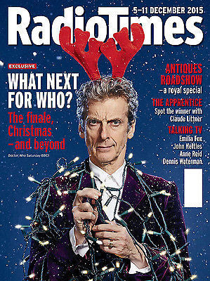 Doctor Who PETER CAPALDI PHOTO COVER RADIO TIMES MAGAZINE DECEMBER 5 2015 NEW