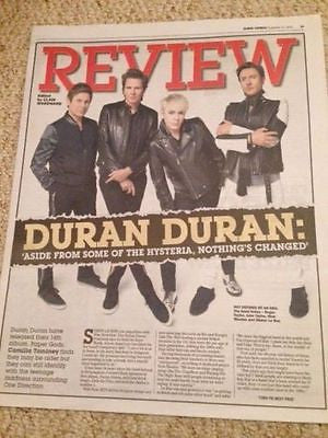 DURAN DURAN PHOTO INTERVIEW EXPRESS REVIEW MAGAZINE - Nov 2015 - BRAND NEW