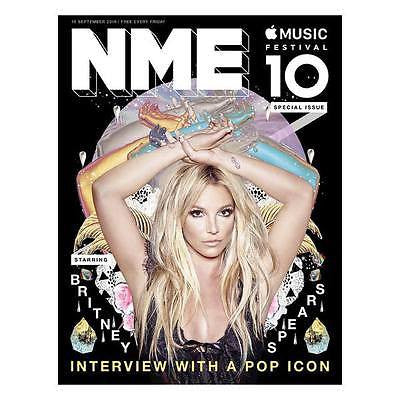 BRITNEY SPEARS - MATT HEALY 1975 - BASTILLE - UK NME MAGAZINE SEPTEMBER 2016