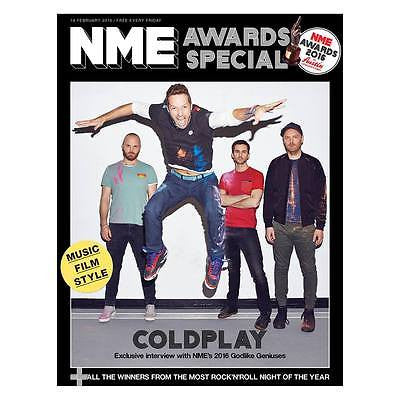 COLDPLAY Photo interview NME MAGAZINE 2016 Viola Beach David Duchovny Wolf Alice