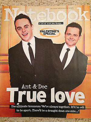NOTEBOOK MAGAZINE 02/2016 ANT & DEC PHOTO INTERVIEW ALAN TITCHMARSH