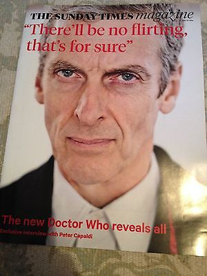 Doctor Who PETER CAPALDI Photo UK Cover interview TIMES MAGAZINE JUSTIN BIEBER