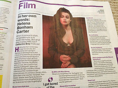 HELENA BONHAM CARTER PHOTO INTERVIEW TIME OUT MAGAZINE 2014 JARVIS COCKER