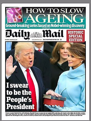 UK Daily Mail Newspaper 21st January 2017 - President Donald Trump Inauguration