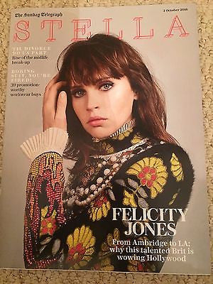 Inferno FELICITY JONES Photo Interview UK Stella Magazine October 2016 NEW