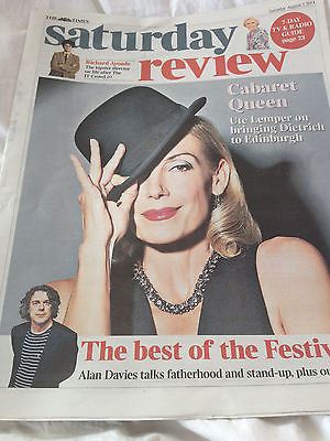 Times Saturday Review - 2 August 2014 - Ute Lemper Richard Ayoade Alan Davies